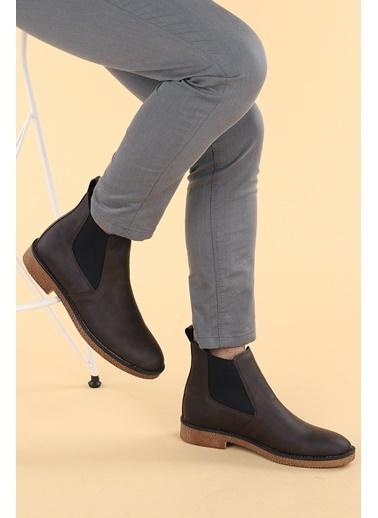 Ayakland Ayakland 5100 Nubuk Termo Taban Erkek Bot Ayakkabı Kahve